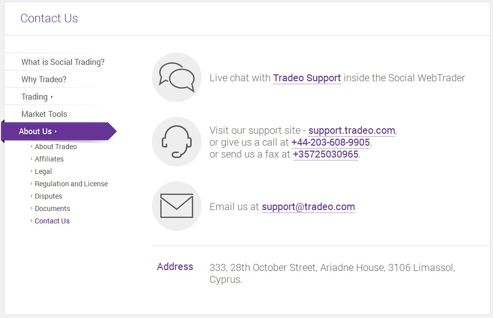 tradeo support
